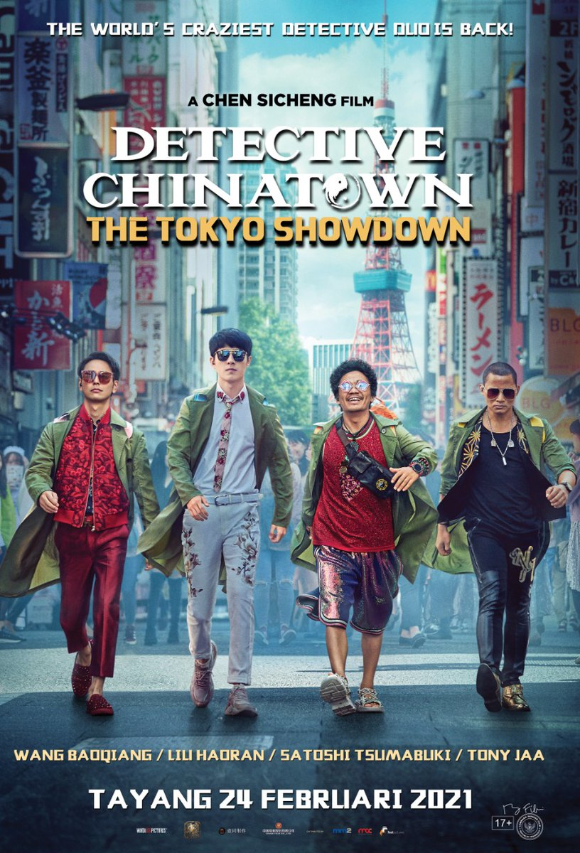 PERHATIAN! Film #DetectiveChinatown: #TheTokyoShowdown tayang di Cinema XXI mulai 24 Februari 2021 😍  Film ini telah memecahkan rekor presale tertinggi sepanjang masa di China lho. Gokil banget! Jadi makin gak sabar nih 🙌