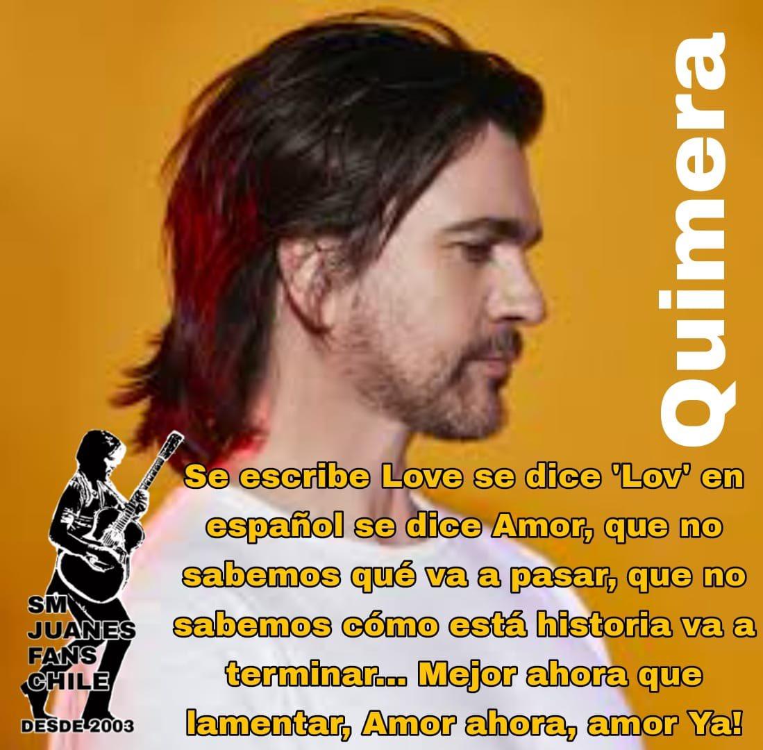 😃Y empezamos nuestro #LunesDeFrases con #Quimera, canción que explica mucho lo que ocurre en todo el mundo... 🙌🏼 Nos encantan estos temas con sentido social y humanitario ❤️🎶  @Juanes #FrasesDeJuanes #DeColombiaParaElMundo #DeFansAFans #Juanaticos #JuanesLovers
