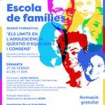 Image for the Tweet beginning: 💬 ESCOLA DE FAMÍLIES |