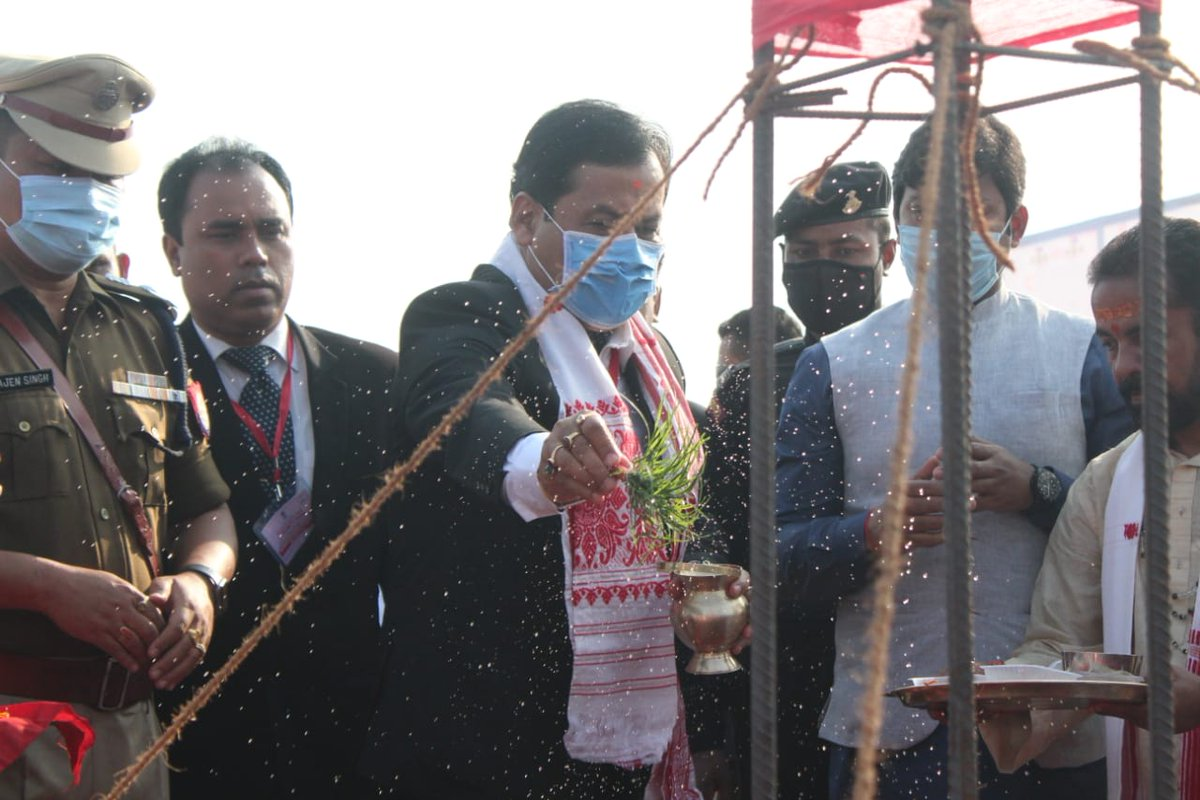 CM Shri @sarbanandsonwal inaugurated construction works of the Bishwanath Police Reserve, a project that will provide added impetus to the rapidly improving police infrastructure of Assam. @assampolice