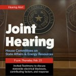 Image for the Tweet beginning: To view the Joint Hearing