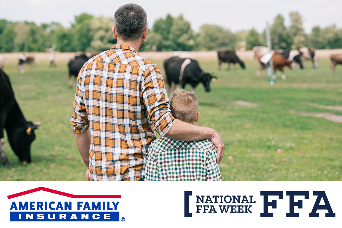 It's National #FFAWeek! @AmFam is proud to support the next generation of farmers and ranchers — and the communities that raise and continue to nurture them.