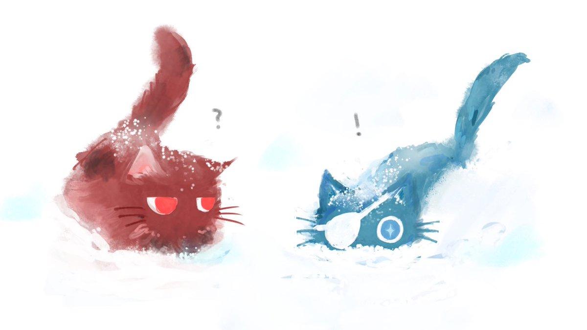 #ディルガイワンドロワンライ 「猫」「雪」