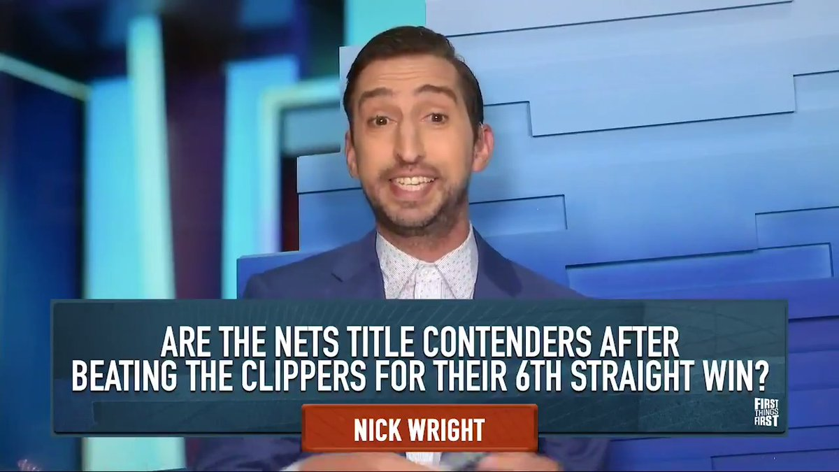 """That's a great win by Brooklyn & it's not even the most important   thing that happened to them this week. It was a spectacular road trip. But none of this addresses their defense.""  The 'new, refreshed, rejuvenated' @getnickwright reacts to the Nets win over the Clippers:"