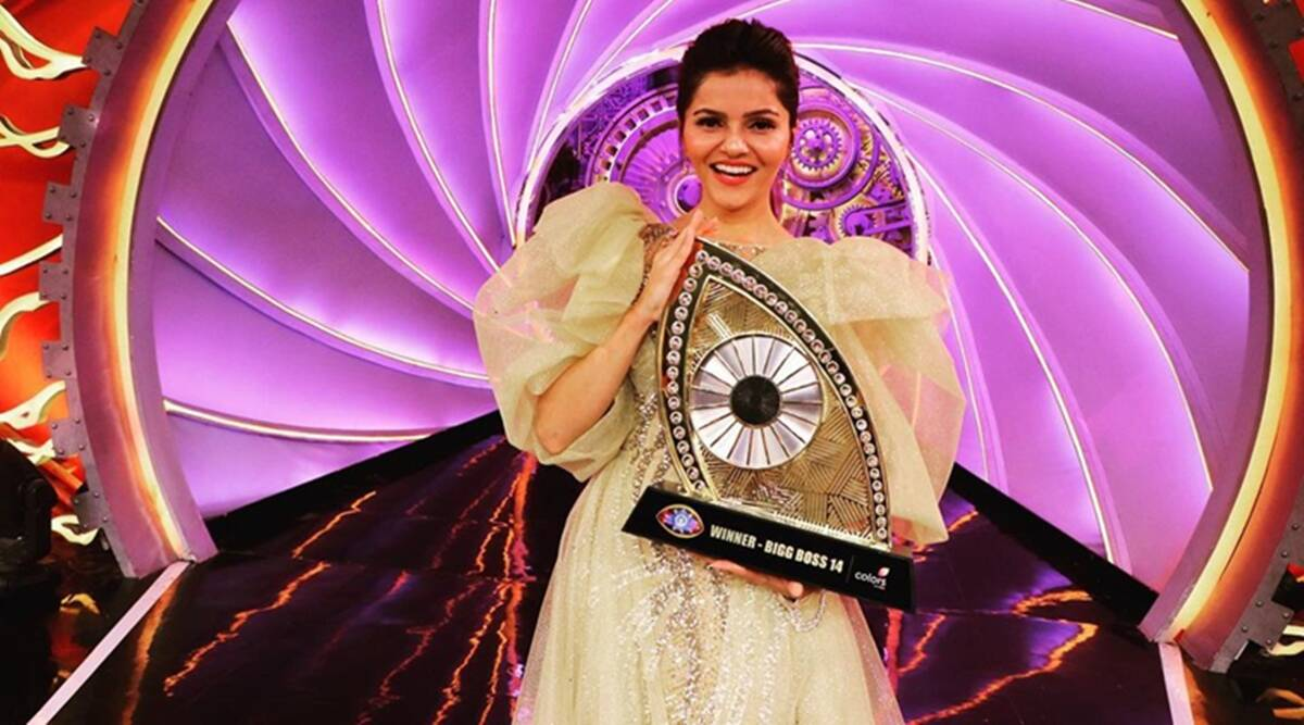 Congratulations @RubiDilaik As  emerged as the winner of Bigg Boss 14 on Sunday night, she was coming off a roller-coaster journey in the last four and a half months.#BiggBoss14Finale #BestHostSalmanKhan https://t.co/EzMBZnGxgt