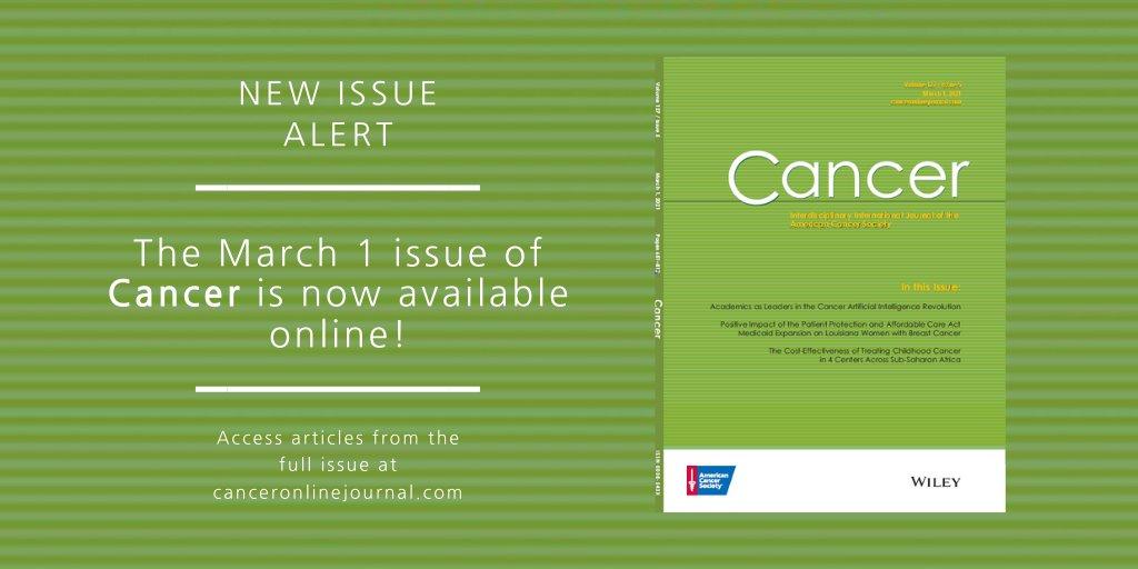 Acs Journal Cancer Journalcancer Twitter