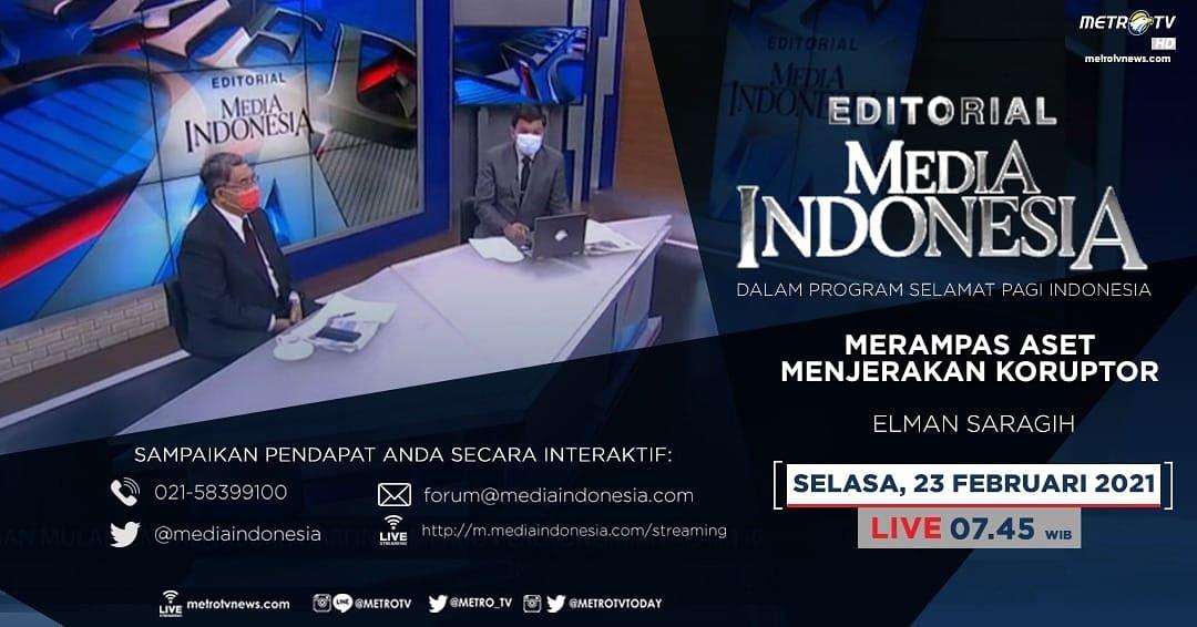 #EditorialMediaIndonesia hari Selasa (23/2) LIVE pukul 07.45 WIB dalam program #SPIMetroTV akan membahas hukuman mati yang tidak memberi efek jera kepada koruptor, bersama pembedah Elman Saragih.  #hukumanmatikoruptor #koruptor #miskinkankoruptor #mediaindonesia