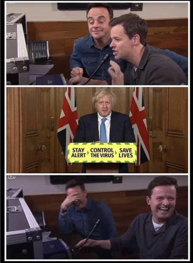 """Replying to @randomsillyshit: """"Boris, tell them they can open pubs, but without alcohol..."""""""