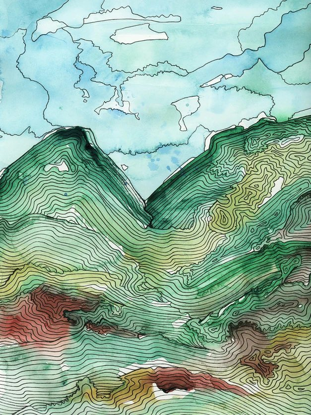 """""""Green Alps"""" on sale with code MKART at Sorelle Gallery, my bad ass woman-owned representation. #womenmade #womaninbizhour"""