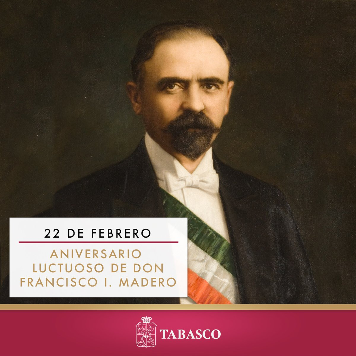 Hoy conmemoramos el 108 aniversario luctuoso de Francisco I. Madero, una figura trascendental para la consolidación de un México más democrático y plural https://t.co/ceUjzY1ukm