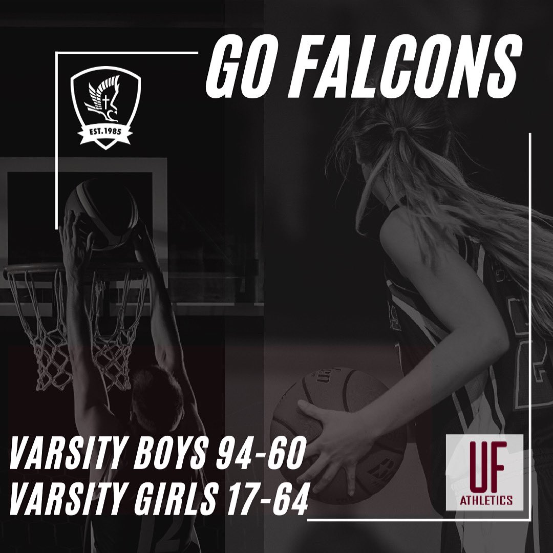 Friday night's scores. Way to go Falcons! #ufca #ufbasketball #faithboys #faithgirls https://t.co/iCvap4wNJB