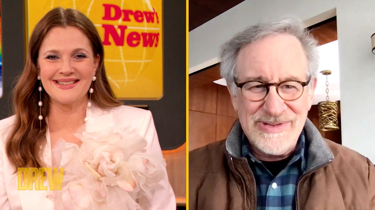 Steven Spielberg reveals his hilarious reaction to Drew's Playboy spread years later 😂   Watch the extended interview: