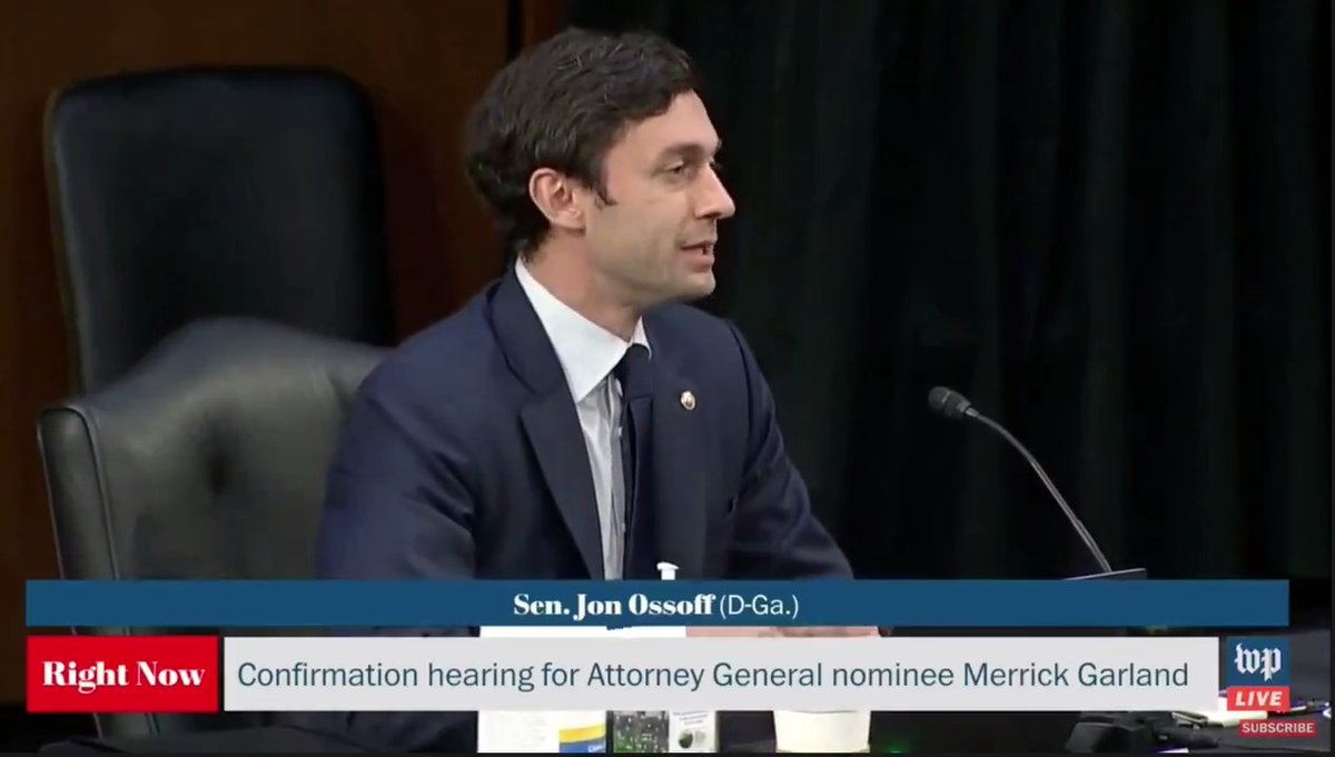 As Republican politicians in Georgia try to disenfranchise their own constituents, I asked Attorney General nominee Merrick Garland for a firm commitment to defend voting rights. Here's what he said: