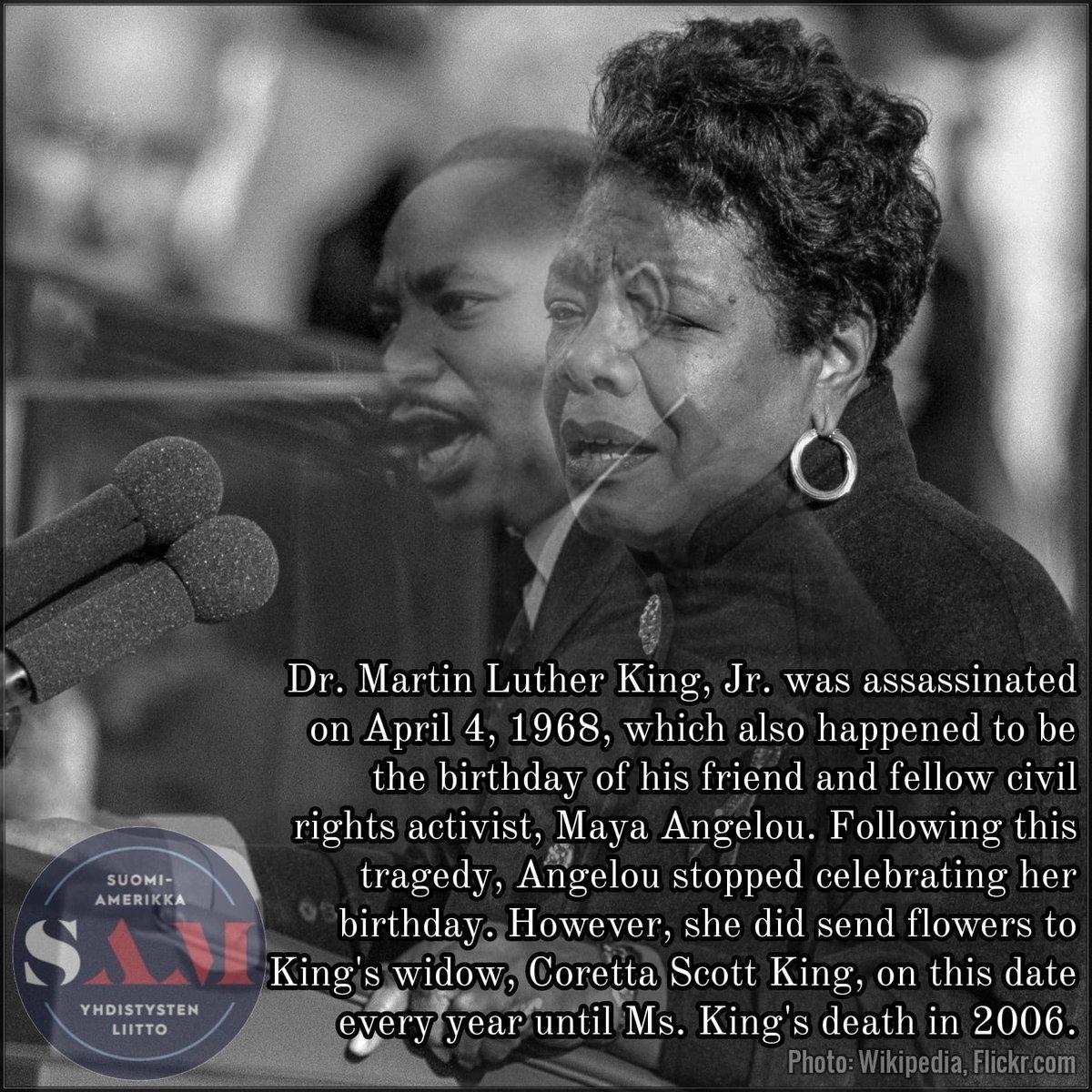 #MayaAngelou #MLK #DrMartinLutherKingJr #CorettaScottKing #CivilRights #BlackHistoryMonth #blackhistoryfacts #sampori #samsuomi