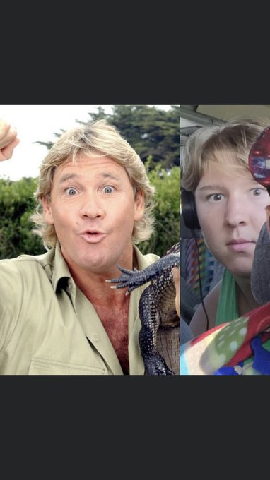 Happy Birthday Steve Irwin. Remember that time I looked like you?