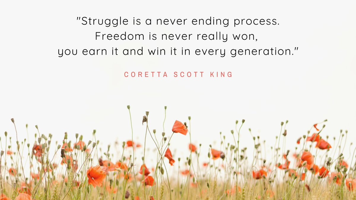 Happy Monday!  Here is the quote of the day!  Leave a comment and SHARE!   #blackwomen #blackquotes #blackcommunity #blackorganizations #corettascottking