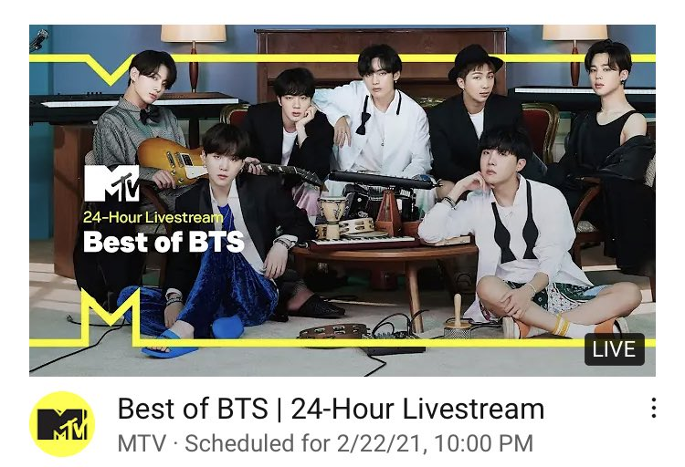 @BTSGlobalCharts's photo on 24-Hour Livestream
