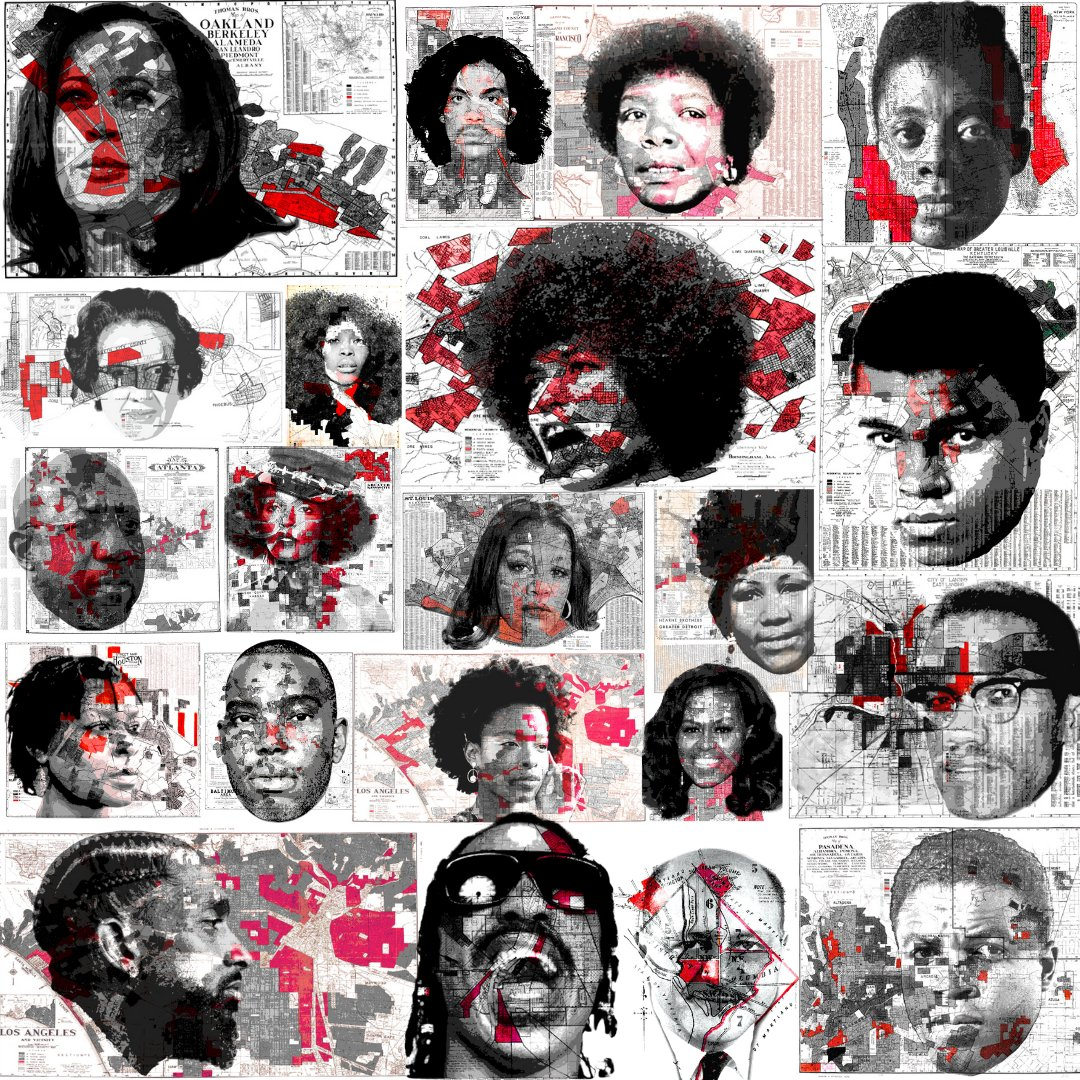 Good morning and Happy Monday! As we enter the last week of FEB, don't forget to bid on your favorite redlining art created by @GregtheGrouch at . Here is a roundup of all 21 pieces we've shared so far.   #DopeBlackArt #Art #BHM  #BlackExcellence