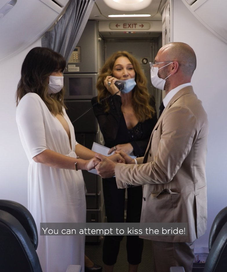 Taking love to new heights: @VirginAustralia's first-ever wedding in the sky. Congratulations Elaine and Luke!