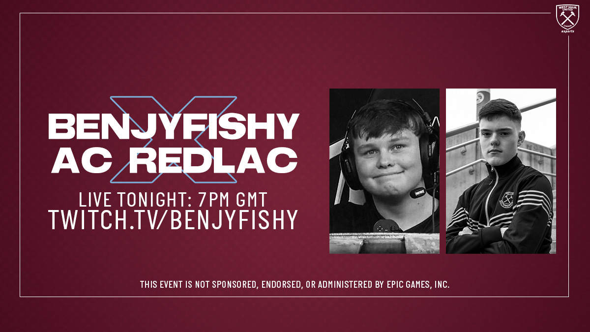 ⚒️ x 🐟  @AC_RedLac is dropping into @FortniteGame with @benjyfishy at 7pm tonight! 🔥  >