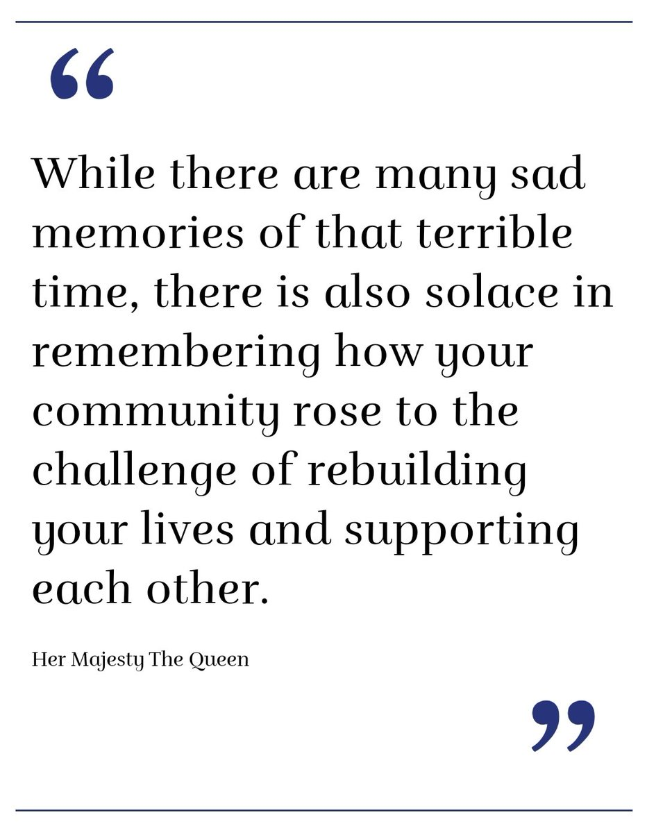 """The full message from our Queen to the @GovGeneralNZ and the nation:  """"On the tenth Anniversary of the Canterbury earthquakes, as you gather to remember those lost and reflect on the devastating effects...""""   https://t.co/bc78UKvSGF  @RoyalFamily https://t.co/4HyrWyRGIZ"""