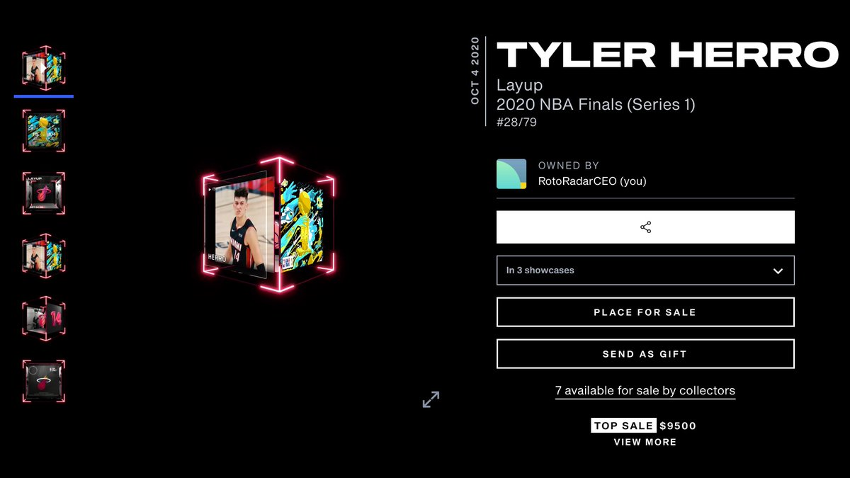 Welcome to the squad @raf_tyler!! Bought your most iconic legendary moment from the #NBA Finals last year for $9,500.   His floor price now is $14,000. 📈🤯@nba_topshot #Shot2TheMoon
