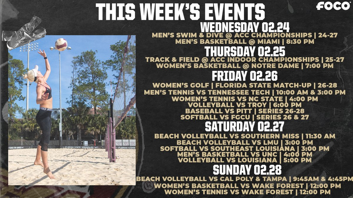 We've got another action packed week ahead Nole fam! 🍢  #OneTribe | #GoNoles https://t.co/hNfT0VkU0T