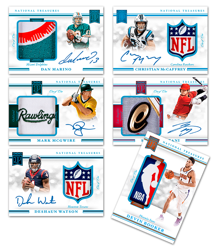 .@deshaunwatson @NFL Shield auto, @DevinBook @NBA Logoman, Ohtani patch auto and more headline Week 7 of @PaniniAmerica's 2021 National Treasures Blockchain release.  #WhoDoYouCollect | #Blockchain