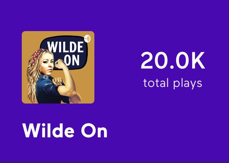 WE DID IT!! 20 fucking thousand downloads! Thank you Wilde Ones. We love you! 🖤⚡️ #prowrestling #womenswrestling #podcast #podcaster