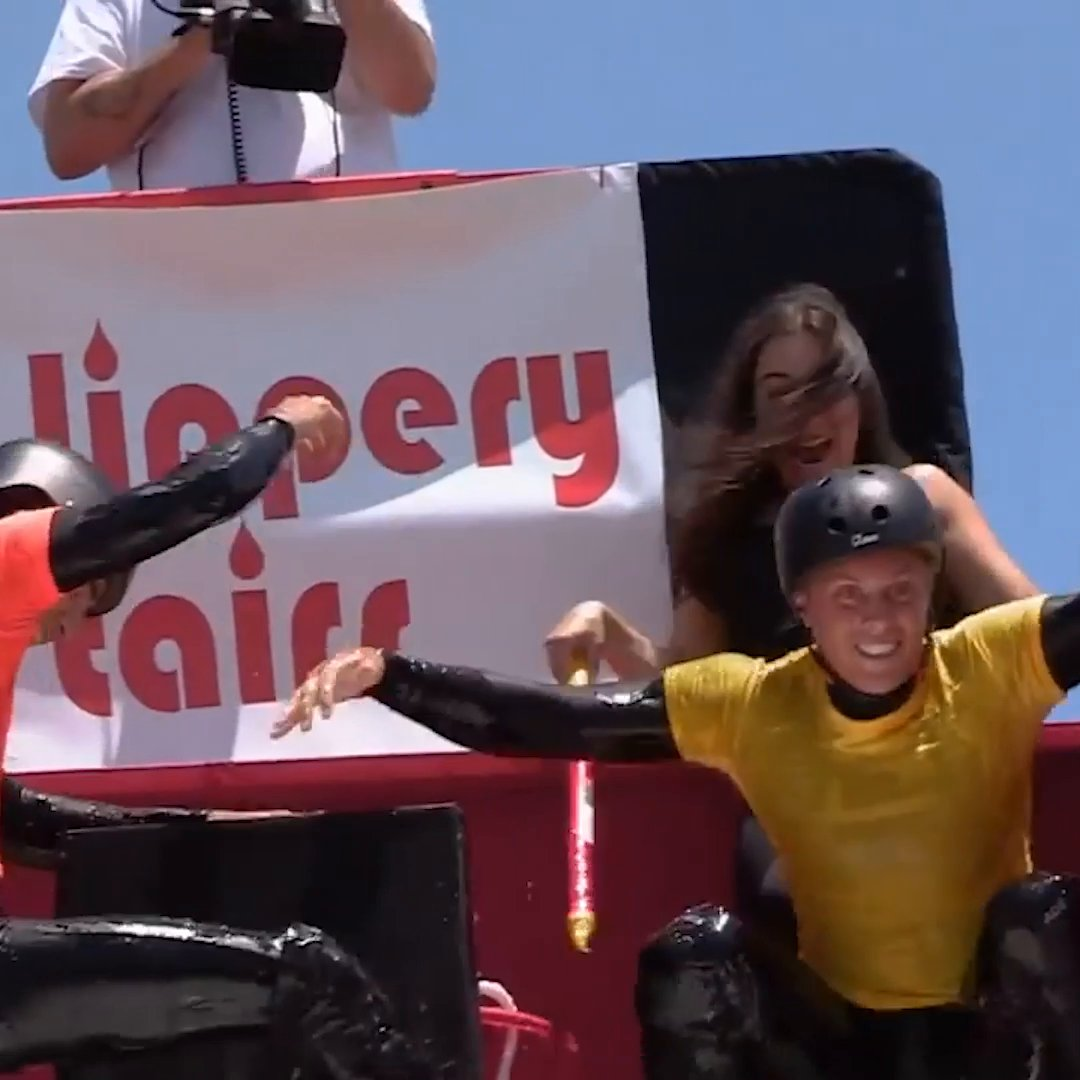 The first ever Slippery Stairs world championship was INTENSE 😅 https://t.co/hzHhv45j4g