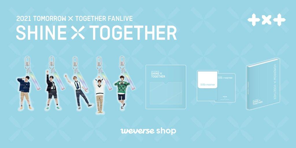 오래 기다려온 #투모로우바이투게더 와의 만남을 기다리며✨ SHINE X TOGETHER 공식 상품 먼저 위버스샵에서 만나보세요.  📆예약 판매 : ~ 2/26(금) 18:00 (KST) 💙MOA Membership 회원만 구매 가능  GLOBAL👉 USA👉 JAPAN👉