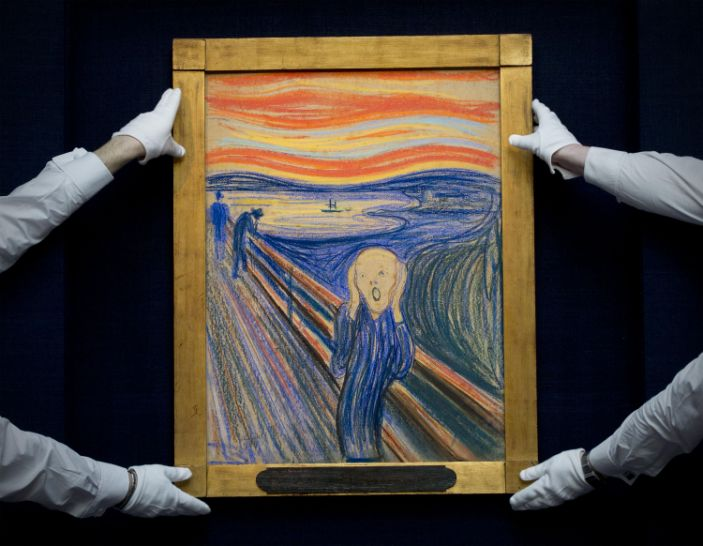 Mysterious message on The Scream was written by Edvard Munch himself, experts reveal Photo