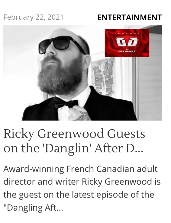 Want to get to know @RickyGreenwoodX better? Check his interview out with @TheDickDangle! #YourWelcome  via @AVNMediaNetwork