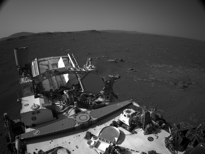 NASA's Mars Perseverance rover acquired this image using its onboard Right Navigation Camera (Navcam)