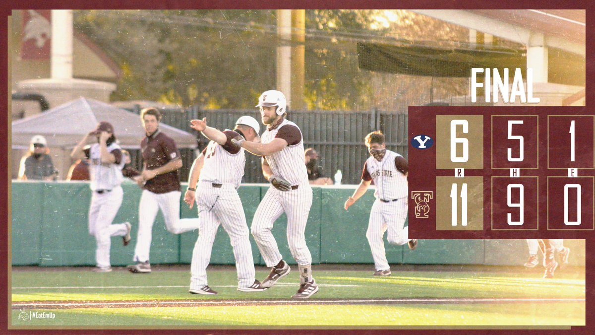 LIGHT THE VICOTRY STAR!!! Beat BYU 11-6! Series finale tomorrow afternoon at 4 p.m. #EatEmUp #ComebackStrong