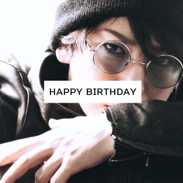 Happy Birthday .                       kazuya kamenashi