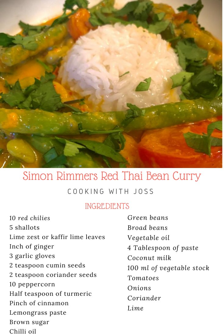 Check out our great attempt on how to cook this lush red Thai bean curry dish. It is the closest to @simonrim recipe we could muster with what we had in the local shop. It really is delicious ! Have a go, you will love it !