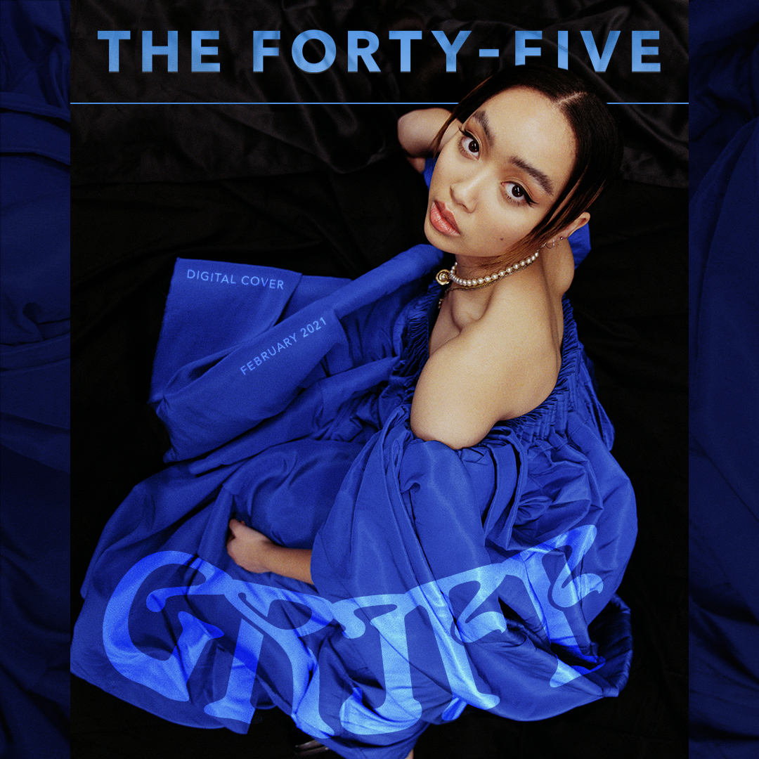 Swimming in blue dress  Digital cover for @TheForty_Five ❤️❤️❤️