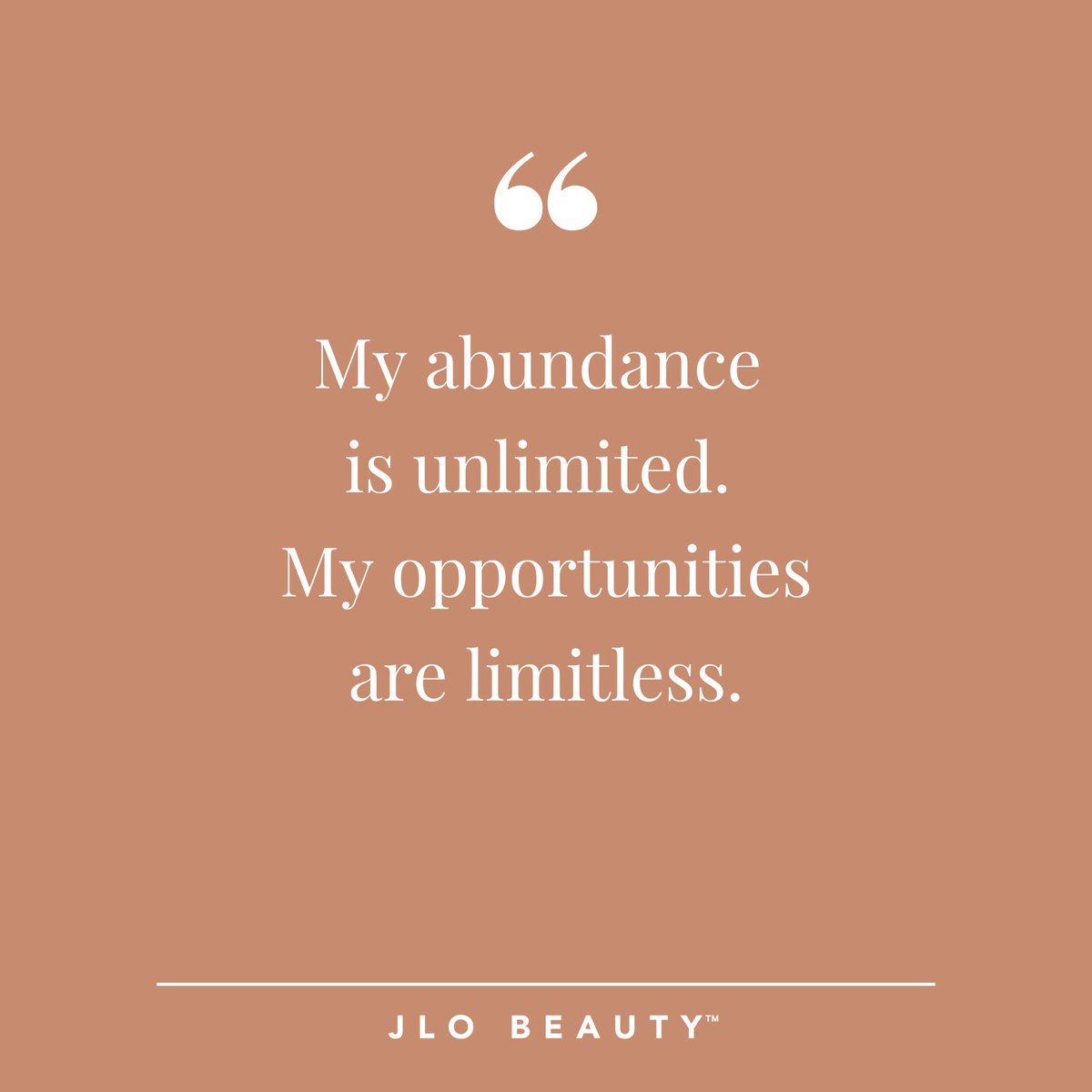 THAT #MondayMantra energy has us feeling LIMITLESS. 💫 Share your mantra in the comments below. ⬇️  #JLOBEAUTY