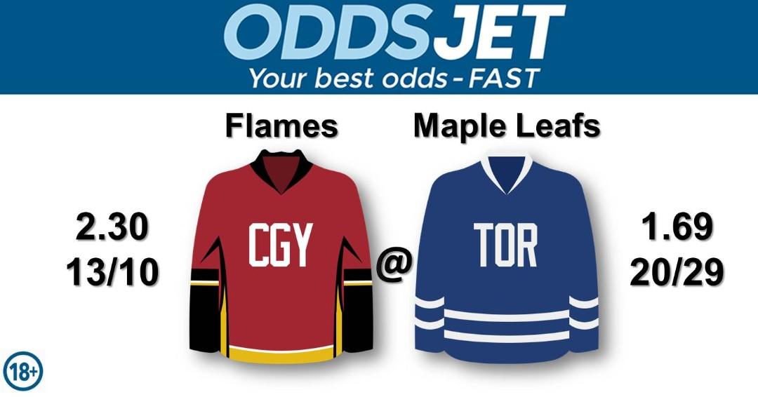 #NHL, #HockeyIsBack,   #Flames, #CofRed, #CalgaryFlames, #GoFlamesGo, vs. #LeafsNation, #Leafs, #MapleLeafs, #TMLtalk, #LeafsForever, #GoLeafsGo,  Get your best odds - fast at