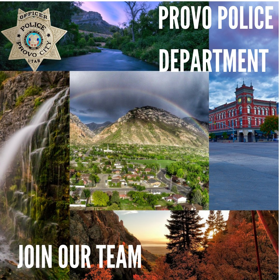 The Provo Police Department is the destination department where you can build your police career. Whether you are new to law enforcement, or you already have a career, Provo is the best place to serve.