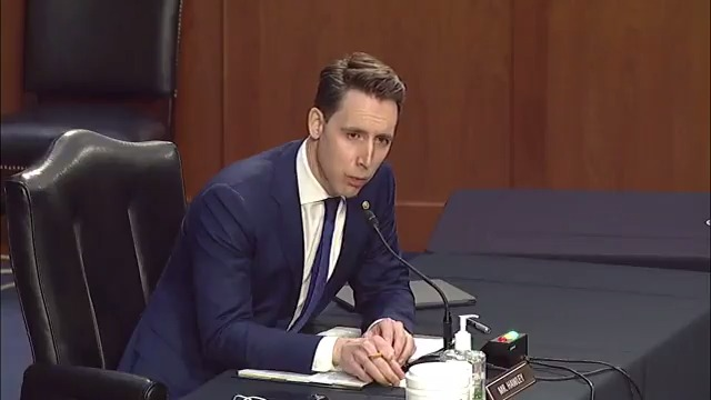 "IMMIGRATION:  Sen. Josh Hawley: ""Do you believe that illegal entry at America's border should remain a crime?""  Attorney General-nominee Merrick Garland: ""I haven't thought about that question. I just haven't thought about that question."""