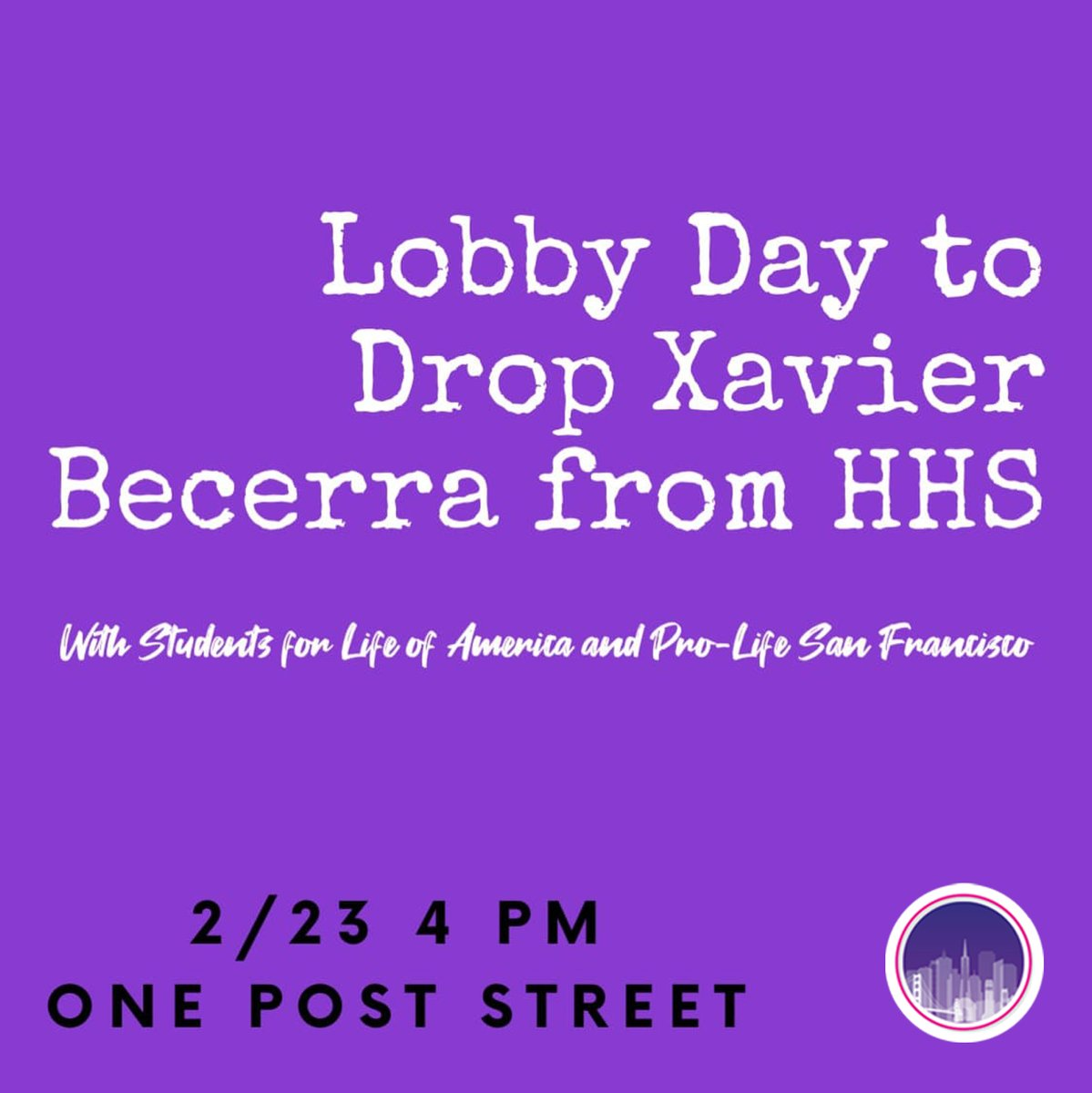 TOMORROW!! 📣👏🏻📣👏🏻📣👏🏻  Join us outside the office of @SenFeinstein to protest the nomination of #XavierBecerra.  📅