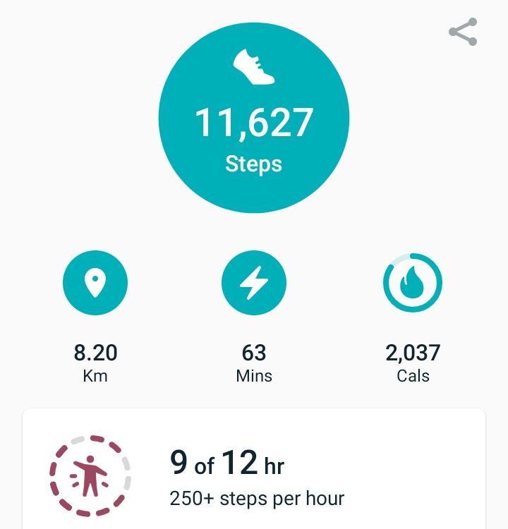 Activity report 22/02: 11,627 #steps, 8.2km  #fitbit #fitness #fitnessgoals #10000steps https://t.co/Vjpezsaz08
