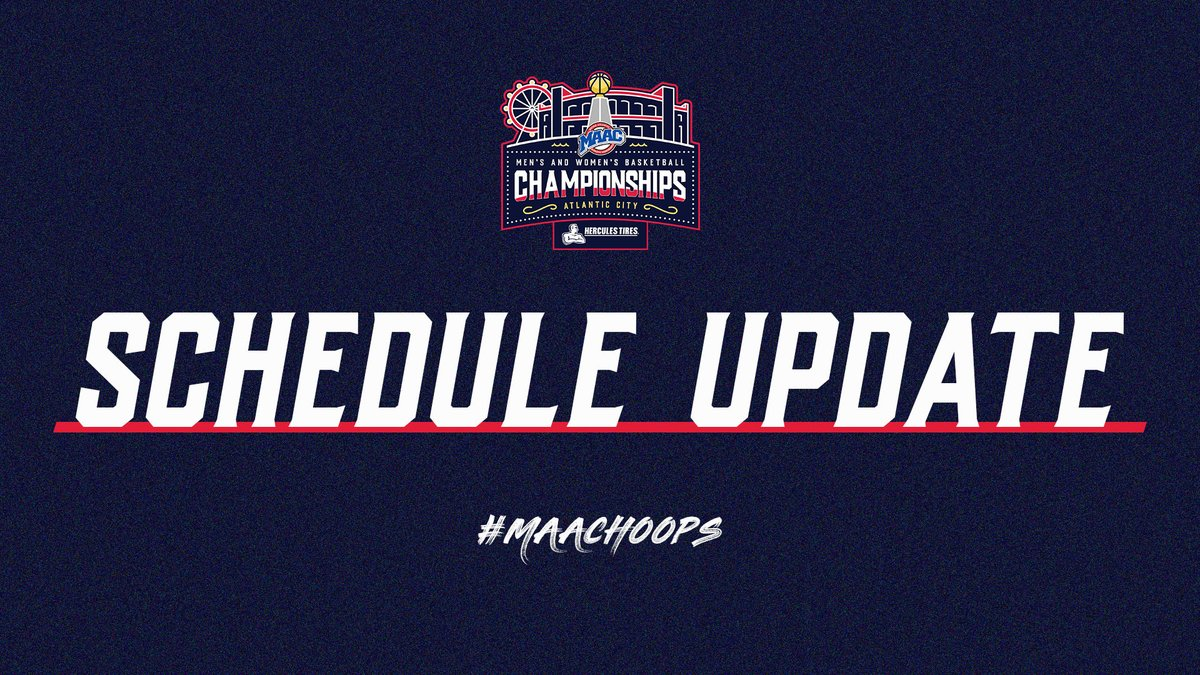 Schedule updates for Mens and Womens #MAACHoops 👇 📰: bit.ly/3aLdqM6