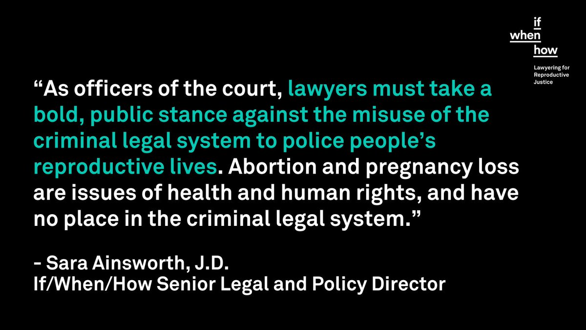 Shout out to the If/When/How staff lawyers championed and led these efforts at the ABA! ⚖️  If you're a lawyer ready to leverage your skills and privilege to realize repro justice, we've got a space for you! Join If/When/How's RJ Lawyers Network: