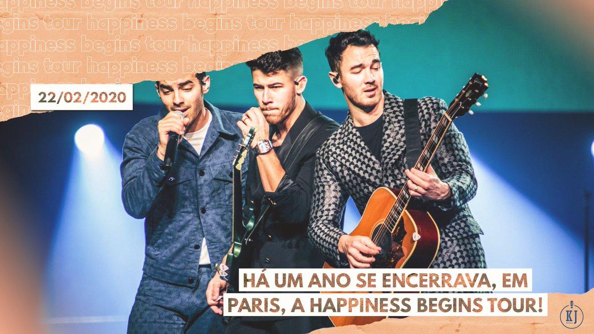 """Após NOVENTA SHOWS, a #HappinessBeginsTour chegava ao fim num dia como hoje, um ano atrás!   A """"turnê que nunca chegou ao Brasil"""" vendeu mais de UM MILHÃO DE INGRESSOS e está entre as 10 mais rentáveis de 2019! 🔥🎸💰"""