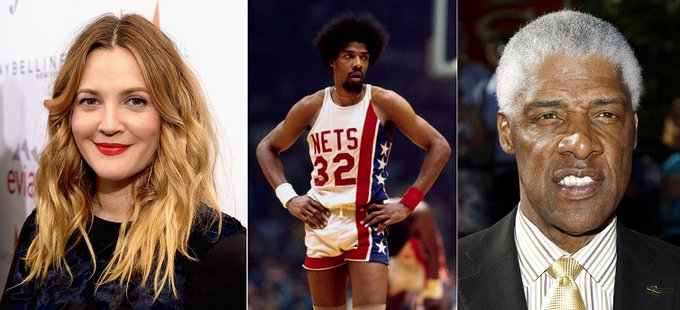 HAPPY BIRTHDAY  Drew Barrymore  and  (the legend) Julius Erving