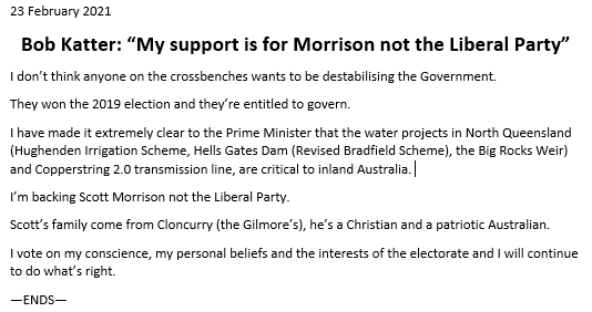 A statement on todays events. #auspol