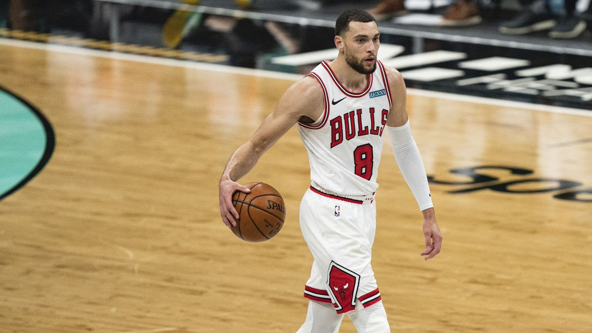 LaVine's last 9 games:  39 PTS   7 REB   4 AST 35 PTS   2 REB   6 AST 46 PTS   7 REB   4 AST 26 PTS   9 REB   6 AST 30 PTS   9 REB   3 AST 37 PTS   5 REB   5 AST 30 PTS   5 REB   5 AST 38 PTS   4 REB   3 AST 21 PTS   5 REB   6 AST  Reminder: This man is playing out of his mind 😳 https://t.co/F3VmdAmrco